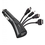 Intex IN-500 MCC USB Car Charger With Multipin USB Cable For Android Smartphones Older Model Mobile Phones