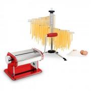 Klarstein Pasta Set, tészta készítő gép, piros & Verona tészta szárító (PL-8914-1482)
