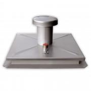 Hailo Professional Hailo Schachtabdeckung HS1 Edelstahl 2mm tagwasserdicht mit Entlüftung 600x600mm