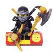 "Minifigure Packs: Lego Legends Of Ninjago Bundle ""(1) Deepstone Armored Cole"" ""(1) Figure Display Base"" ""(4) Figure Accessorys (Aeroblade, Axe Blade & Shamshir Swords)"""