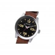 Reloj Nixon A243019 Corporal Leather Cristal Mineral-Plateado Y Marrón