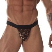 Don Moris Leopard Pouch Sexy Transparent Slip Bikini Underwear DM031711