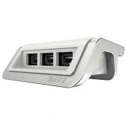Încărcător cu trei porturi USB Leitz Style, alb arctic