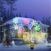 youoklight 12w rgbw vakantie decoratie waterdichte sneeuwvlok projectorlamp ons / eu plug ac100-240v 1pcs