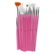 Set 15 Pensule Pictura Unghii Miley Pink NBS15P