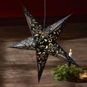 Blaze paper star, 5-pointed, patterned, black