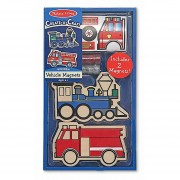 Imanes de transportes de madera para decorar de Melissa and Doug