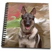 3dRose db_3937_1 German Shepherd Drawing Book 8 by 8-Inch