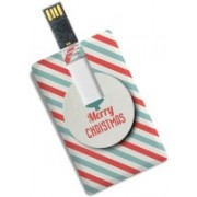 100yellow Credit Card Shape 8GB Merry Christmas Printed Pendrive 8 GB Pen Drive(Multicolor)