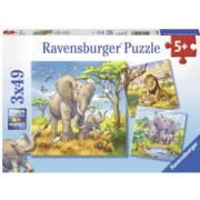Puzzle Animale 3X49 Piese