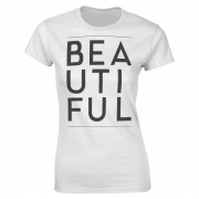 The Valentines Collection Camiseta Beautiful - Mujer - Blanco - L - Blanco