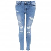 Skinny Jeans Edgy Ripped - Jeans