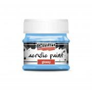 Pentart Fényes világoskék színű akril bázisú hobbi festék 50 ml