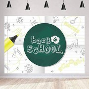 Zhyxia Zhy Back to School Backdrop for Photography 7X5FT Blackboard Notes Graduation Season Background Campus Party Supplies Decor Youtube Photo Shooting Props 31