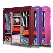 Unique Cartz 3 Door 88130 Fancy Portable Foldable Closet Wardrobe Cabinet Portable Multipurpose Storage Organiser DIY