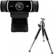 Уеб камера Logitech C922 Pro Stream, микрофони, Full HD, USB