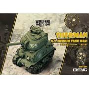 Meng Model - M4a1 Sherman U.s Tank World War Toon