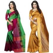Shree Rajlaxmi Sarees Cotton Silk Printed Party Wear New Collection Latest Design Trendy Women'S Pack-2 Saree/Sari
