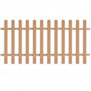 vidaXL Gard de șipci, lemn compozit, 200 x 100 cm, maro