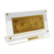 USA 24Kt 0.999 Gold Plated 1 Million USD Bill Limited USA Bank Note Collectible
