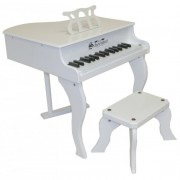 Schoenhut White Baby Grand Piano - 30 keys