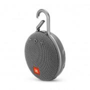 JBL Clip 3 - водоустойчив безжичен портативен спийкър (с карабинер) с микрофон за мобилни устройства (сив)