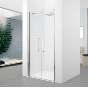 Novellini Saloon Young Shower - Coffre de douche 2.0 2.0 cm.80 - cristal: aqua - profil: N