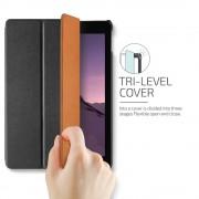 Verus Saffiano K1 - кожен калъф и поставка за iPad Pro 10.5 (черен)