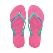 Havaianas Logo Pop Up Flip Flops Shocking Pink Size 2.5-3