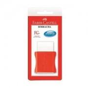 Faber Castell Borracha Com Cinta Plástica - Branca & Vermelha - Fabe