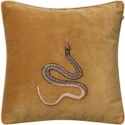 Chhatwal & Jonsson Embroidered Cobra Kuddfodral 50x50 cm, Masala Yellow