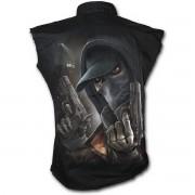 košile pánská bez rukávů SPIRAL - Street Reaper - Black - M019M602