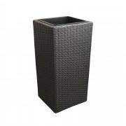 PremiumXL - [neu.haus] Tegla za cvijeće / Kutija za cvijeće / Držač za cvijeće (tamno siva, 26x26x50cm)
