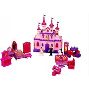 Montez Dream Castle Doll House with Prince and Princess and a Horse Cart (Pink)