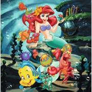 Puzzle 3 in 1 - Cenusareasa, Alba ca Zapada si Ariel, 147 piese
