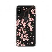 FLAVR Étui FLAVR iPlate Cherry Blossom pour iPhone X XS - Rose Rouge Transparent
