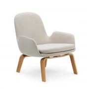 Normann Copenhagen - Era Lounge Chair Low, Eiche / hellgrau (Breeze Fusion 4104)