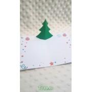 Felicitare de Crăciun Pop Up cu Brăduţ
