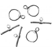 Jewelry Basics Metal Findings-Small Toggle Silver 3/Pkg
