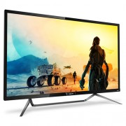 "Philips 436M6VBPAB, 43"" Wide MVA LED, 4 ms, 4000:1, 50М:1 DCR, 720/1000 cd/m2, 3840x2160@60Hz, Adaptive Sync, 1xUSB-C/2xUSB 3.0, HDMI, DP, Headphone Out, Speakers, Black"