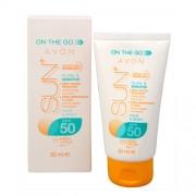Avon Loțiune de plajă impermeabilă, hidratantă Lotiune SPF 50 SUN+ (Moisturising Sun Lotion) 50 ml