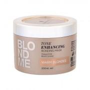 Schwarzkopf Blond Me Tone Enhancing maschera per capelli rinforzante per capelli chiari, con toni caldi 200 ml tonalità Warm Blondes donna