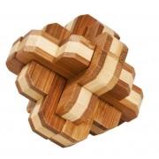 Joc logic IQ din lemn bambus 3D Round Knot