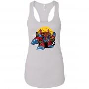 Boombox Robot - Music Art - Women's Racerback Tank Top