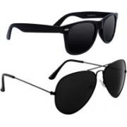 John Dior Wayfarer, Aviator Sunglasses(Black)