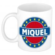 Bellatio Decorations Voornaam Miquel koffie/thee mok of beker