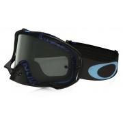 Oakley Crowbar Mx - Frame: DISTRESS TAGLINE STEALTH BLUE Lens: DARK GREY - Ski & Snowboard Goggles