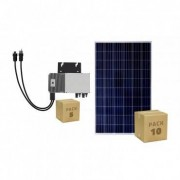 efectoled.com Pack 10 Panel Solar Fotovoltaico Policristalino 320 W BYD Clase A + 5 Microinversor 600 W