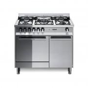Lofra M95g/c 90x50 Cucina Con Piano In Acciaio Lucidato A Specchio - 5 Fuochi A Gas Di Cui 1 Tripla Corona - Forno A Gas Da 52