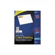 Vibrant Color-Printing Address Labels, 3/4 X 2 1/4, Matte White, 600/pack
